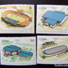 Sellos: CUBA 1991 EXPO .FILATELICA PANAMFILEX 91 YVERT 3144 / 3147 ** MNH. Lote 86437076