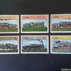 Sellos: CUBA. 2551/6. SERIE COMPLETA NUEVA CON CHARNELA. TRENES. FERROCARRIL. Lote 86467872