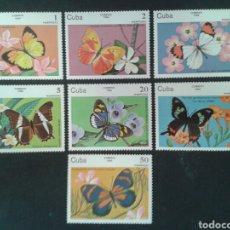 Sellos: CUBA. 2515/21. SERIE COMPLETA NUEVA SIN CHARNELA. FAUNA. INSECTOS. MARIPOSAS.. Lote 86468451