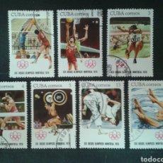 Sellos: CUBA. 1930/6. SERIE COMPLETA USADA. DEPORTES.. Lote 86615999