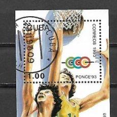 Sellos: HOJA BLOQUE DE CUBA 1993. Lote 89302032