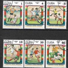 Sellos: CUBA SERIE COMPLETA DE 1986. Lote 95150691