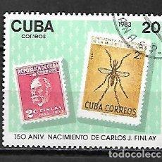 Sellos: CUBA SERIE COMPLETA MATASELLADA DE 1983. Lote 95197727