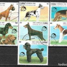 Sellos: CUBA SERIE COMPLETA MATASELLADA DE 1992. Lote 95212607