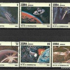 Sellos: CUBA SERIE COMPLETA MATASELLADA DE 1985. Lote 95213063