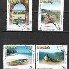 Sellos: CUBA SERIE COMPLETA MATASELLADA DE 1998. Lote 95213363