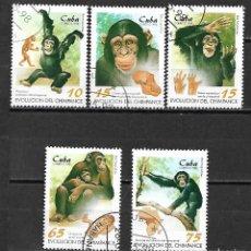 Sellos: CUBA SERIE COMPLETA MATASELLADA DE 1998. Lote 95213591