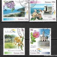 Sellos: CUBA SERIE COMPLETA MATASELLADA DE 1996. Lote 95213935