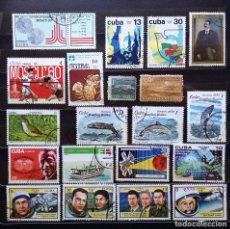 Sellos: CUBA - SELLOS USADOS Y NUEVOS (SIN GOMA Y CON MATASELLOS) - HAY FOTOGRAFÍAS DE TODOS LOS SELLOS. Lote 100052279