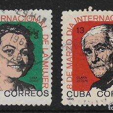 Sellos: CUBA. YVERT NSº 827/28 USADOS Y DEFECTUOSOS. Lote 109376663