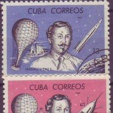 Sellos: CUBA. MATÍAS PÉREZ. YVERT 856/7. Lote 115293035