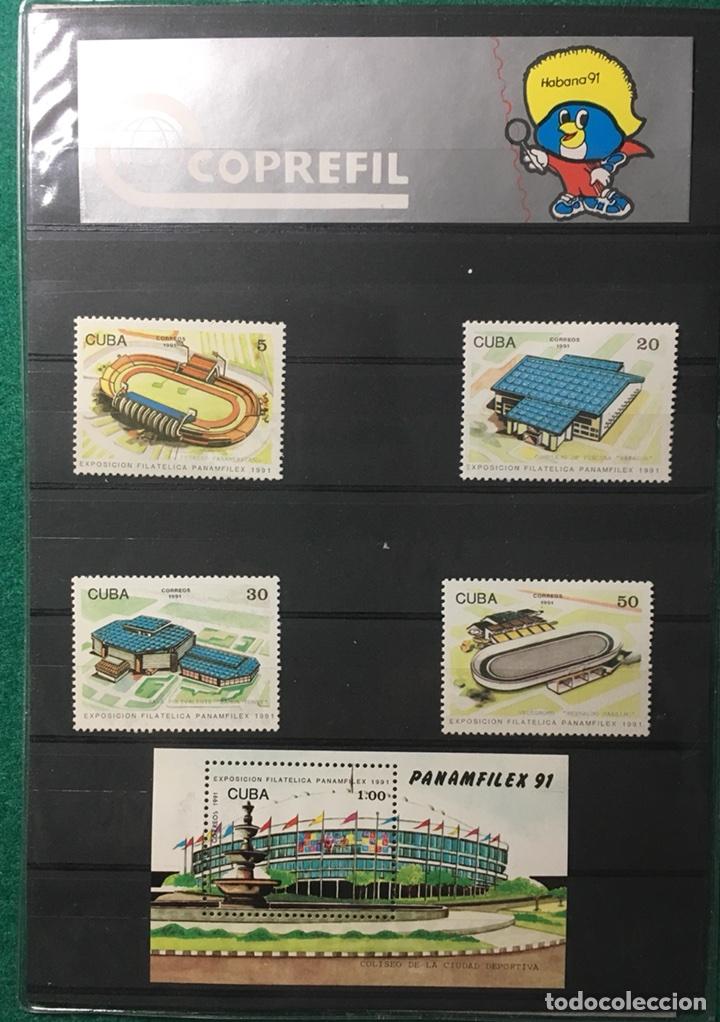 PANAMFILEX 91. SERIE Y HOJA (Sellos - Extranjero - América - Cuba)