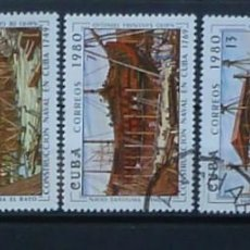 Sellos: CUBA-SERIE COMPLETA 1980, USADOS. Lote 119364679