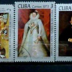 Sellos: CUBA-PINTORES 1973. Lote 119365847
