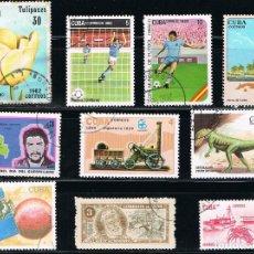 Sellos: CUBA - LOTE DE 10 SELLOS - VARIOS (USADO) LOTE 52. Lote 121436999