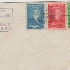 Sellos: SOBRE PRIMER DIA CUBA SELLOS 1949. Lote 127715827