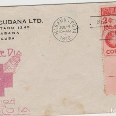 Sellos: SOBRE PRIMER DIA CUBA SELLOS CRUZ ROJA AÑO 1946. Lote 127742303