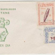 Sellos: SOBRE PRIMER DIA CUBA SELLOS MUSEO ANTROPOLOGICO. Lote 128160212