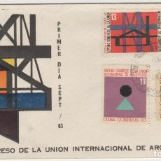 Sellos: SOBRE PRIMER DIA SELLOS CUBA ARQUITECTURA. Lote 127748459