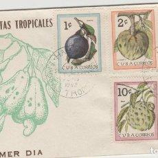 Sellos: SOBRE PRIMER DIA SELLOS CUBA FLORA. Lote 128160138