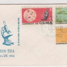Sellos: SOBRE PRIMER DIA SELLOS CUBA CONTRA LA MALARIA . Lote 127809307
