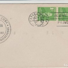 Sellos: SOBRE PRIMER DIA CUBA SELLOS AÑO 1951. Lote 128104707