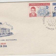 Sellos: SOBRE PRIMER DIA SELLOS CUBA 1962. Lote 128104947