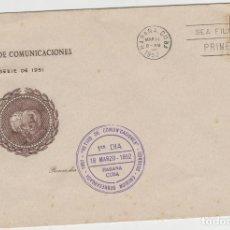 Sellos: SOBRE TAMAÑO GRANDE CUBA MATA SELLOS 1952. Lote 128104995