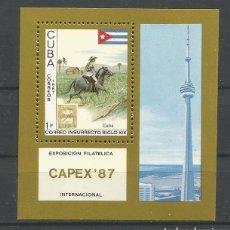 Sellos: CUBA. EXPOSICIÓN FILATÉLICA CAPEX`87. Lote 128384691