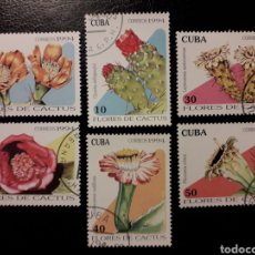 Sellos: CUBA. YVERT 3385/90. SERIE COMPLETA USADA. FLORA. CACTUS. Lote 130882388