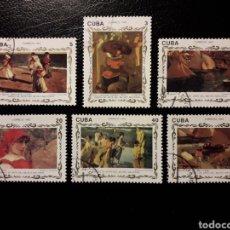 Selos: CUBA. YVERT 3301/6. SERIE COMPLETA USADA. PINTURAS. JOAQUÍN SOROLLA. Lote 130882403