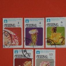 Sellos: CUBA FLORAL USADOS. Lote 131814726