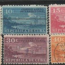 Sellos: LOTE LL SELLOS CUBA CORREO AEREO AÑOS 40. Lote 132215058