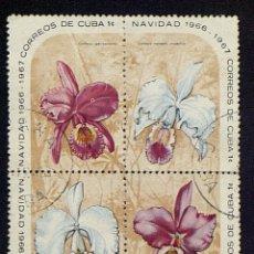Sellos: 4 SELLOS DE NAVIDAD DE 1966 - 67 DE CUBA. Lote 133325674