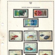Sellos: SELLOS COLECCIÓN 1969-1975 CORRESPONDIENTES A CUBA 1969 ORIGINALES (VER FOTO ESCÁNER). Lote 133684502