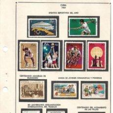 Sellos: SELLOS COLECCIÓN 1969-1975 CORRESPONDIENTES A CUBA 1969 ORIGINALES (VER FOTO ESCÁNER). Lote 133684586