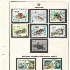 Sellos: SELLOS COLECCIÓN 1969-1975 CORRESPONDIENTES A CUBA 1969 ORIGINALES (FOTO ESCÁNER, INCOMPLETA). Lote 133684622