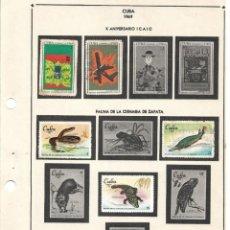 Sellos: SELLOS COLECCIÓN 1969-1975 CORRESPONDIENTES A CUBA 1969 ORIGINALES (FOTO ESCÁNER, INCOMPLETA). Lote 133684654