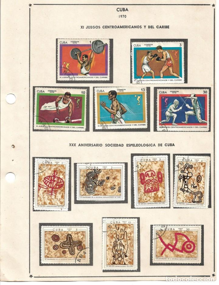 SELLOS COLECCIÓN 1969-1975 CORRESPONDIENTES A CUBA 1970 ORIGINALES (VER FOTO ESCÁNER) (Sellos - Extranjero - América - Cuba)