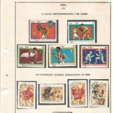 Sellos: SELLOS COLECCIÓN 1969-1975 CORRESPONDIENTES A CUBA 1970 ORIGINALES (VER FOTO ESCÁNER). Lote 133684758