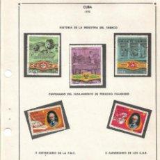 Sellos: SELLOS COLECCIÓN 1969-1975 CORRESPONDIENTES A CUBA 1970 ORIGINALES (VER FOTO ESCÁNER). Lote 133684950