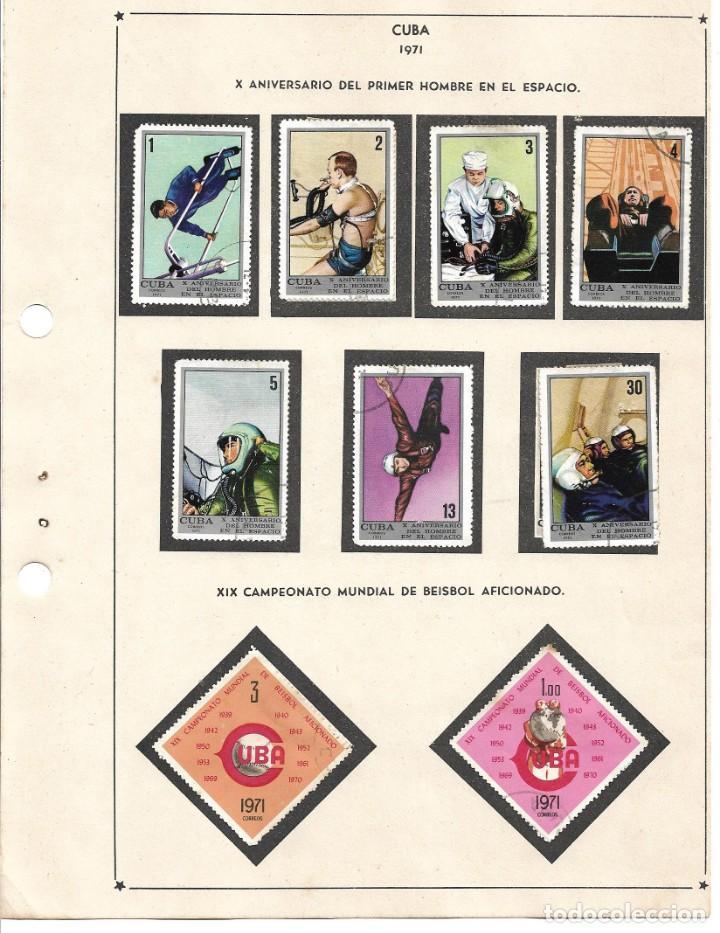 SELLOS COLECCIÓN 1969-1975 CORRESPONDIENTES A CUBA 1971 ORIGINALES (VER FOTO ESCÁNER) (Sellos - Extranjero - América - Cuba)