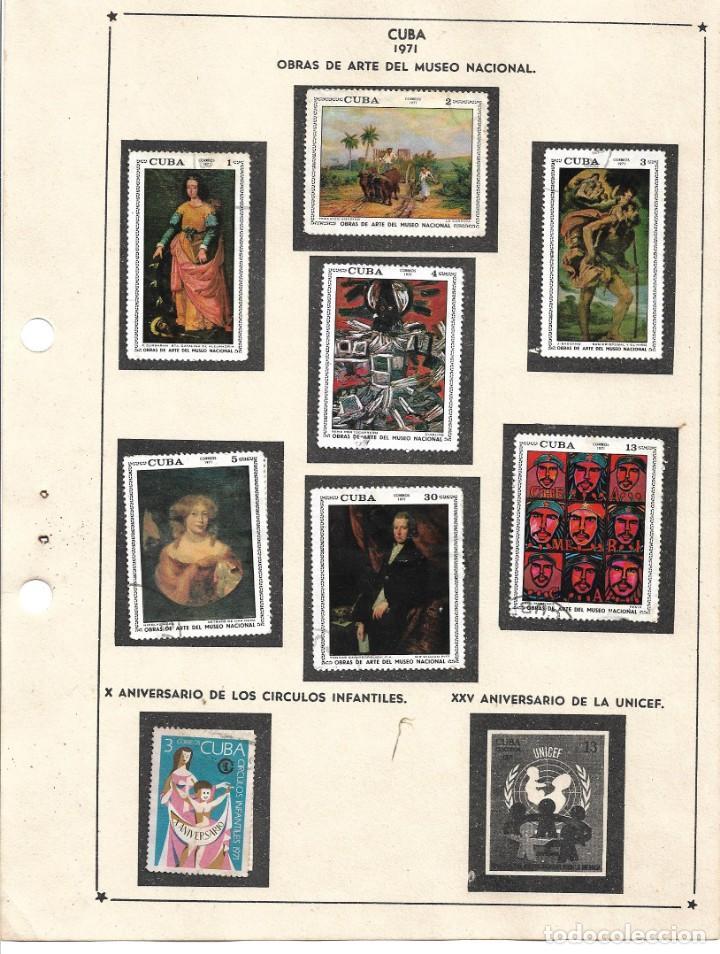 SELLOS COLECCIÓN 1969-1975 CORRESPONDIENTES A CUBA 1971 ORIGINALES (VER FOTO ESCÁNER) INCOMPLETA (Sellos - Extranjero - América - Cuba)