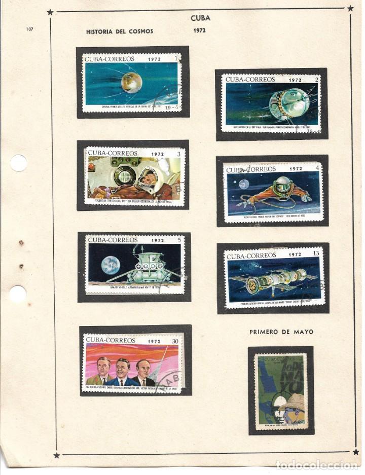 SELLOS COLECCIÓN 1969-1975 CORRESPONDIENTES A CUBA 1972 ORIGINALES (VER FOTO ESCÁNER) (Sellos - Extranjero - América - Cuba)