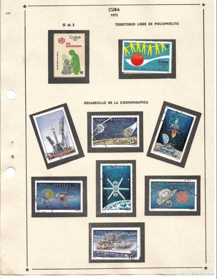SELLOS COLECCIÓN 1969-1975 CORRESPONDIENTES A CUBA 1973 ORIGINALES (VER FOTO ESCÁNER) (Sellos - Extranjero - América - Cuba)