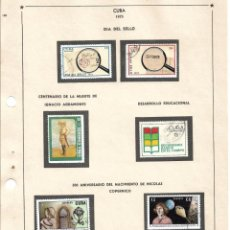 Selos: SELLOS COLECCIÓN 1969-1975 CORRESPONDIENTES A CUBA 1973 ORIGINALES (VER FOTO ESCÁNER). Lote 133844070