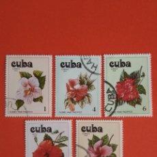 Sellos: CUBA FLORAL USADOS. Lote 134268774