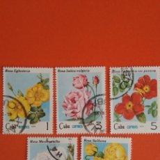 Sellos: CUBA FLORAL USADOS. Lote 134268906