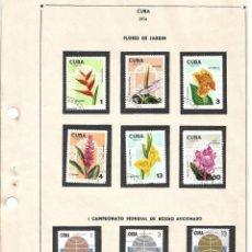 Sellos: SELLOS COLECCIÓN 1969-1975 CORRESPONDIENTES A CUBA 1974 ORIGINALES (VER FOTO ESCÁNER) . Lote 134314414