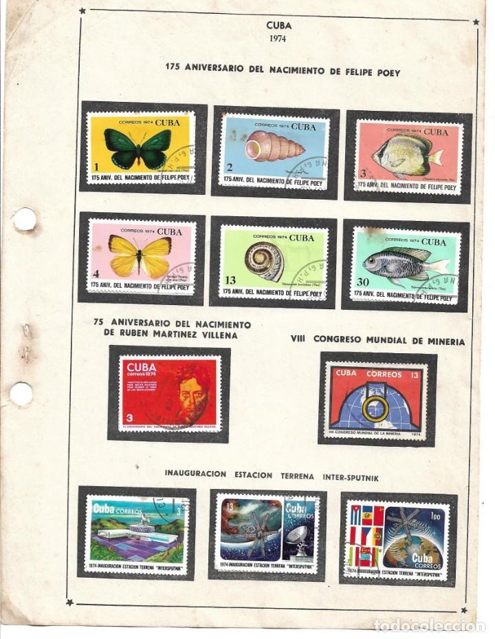 SELLOS COLECCIÓN 1969-1975 CORRESPONDIENTES A CUBA 1974 ORIGINALES (VER FOTO ESCÁNER) (Sellos - Extranjero - América - Cuba)